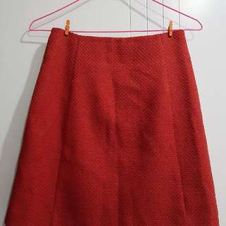 CUE Red Skirt (Size 6)