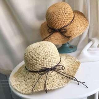 米色可折疊草帽