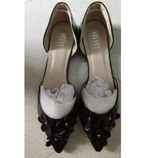 Floral Flats In Black Size 37