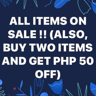 SALE ON ALL ITEMS