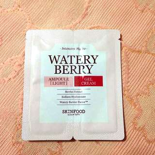 SKINFOOD Watery Berry Ampoule No.Light & Gel Cream Sample