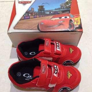 sepatu anak laki laki DISNEY CARS red shoes sepatu sekolah merah sneakers