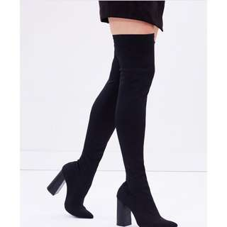 Therapy Black Thigh High Boots (BNIB) Size 10