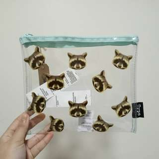 Brand new Typo racoon clear case