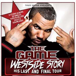 2x The Game Westside Tour Melbourne Tickets
