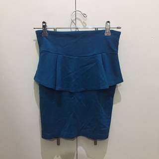 Cotton On - Teal Jeweltone High Waist Peplum Skirt