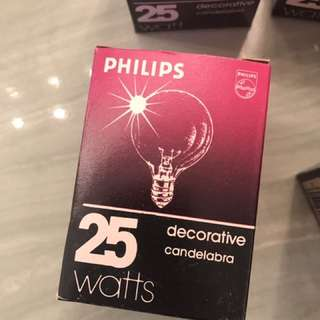 20x Philips Dimmable Decorative Bulbs