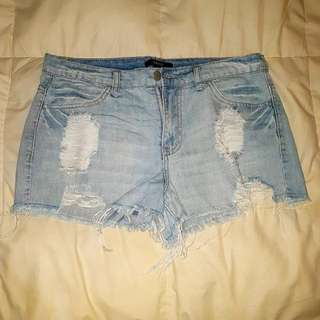 REPRICED!!! Forever 21 Ripped Denim Shorts