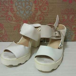 Zalora White Heels Sandal