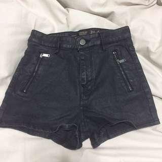 Zara Trafalac High Waist Coated Shorts