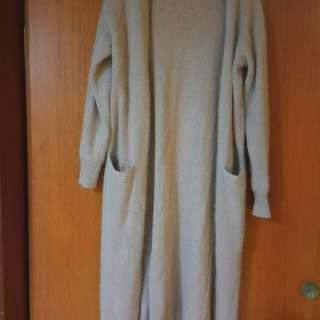 🚚 氣質藕色針織保暖外套