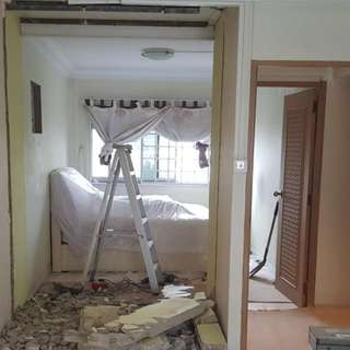 Wall Hacking,  Dismantling, Demolition, Reinstatement, Cabinet Removal and Disposal services