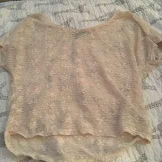 White Lace Overshirt