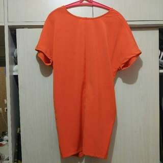 Zalora Orange Dress