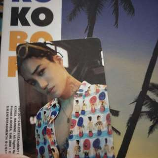 Kai Photocard From EXO The War Album Private Version