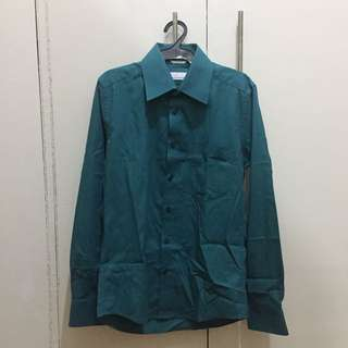 Wallstreet - Teal Long-sleeved Polo