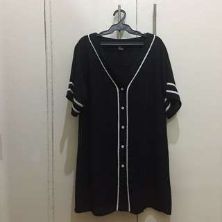Forever 21 - Black Jersey Dress With White Lining