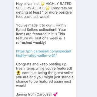 Thanks Carousell 😁