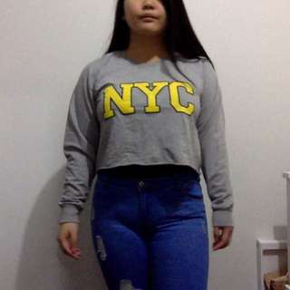 'NYC' Cropped Jumper