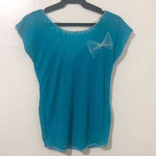Blue With Ribbon Top