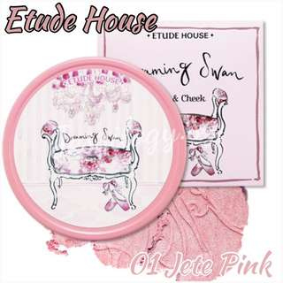INSTOCK Etude House Dreaming Swan Eye And Cheek In 01 JETE PINK
