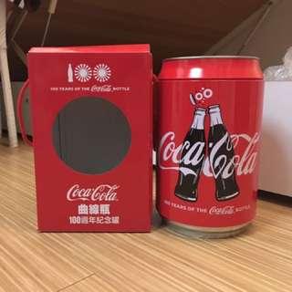 可口可樂100週年多功能收藏罐(存錢桶)