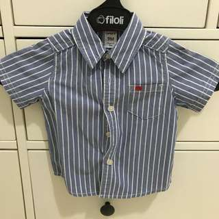 Carter blue shirt for baby boy