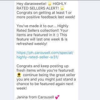 Thank you Carousell and to my Buyers! #achievementunlocked