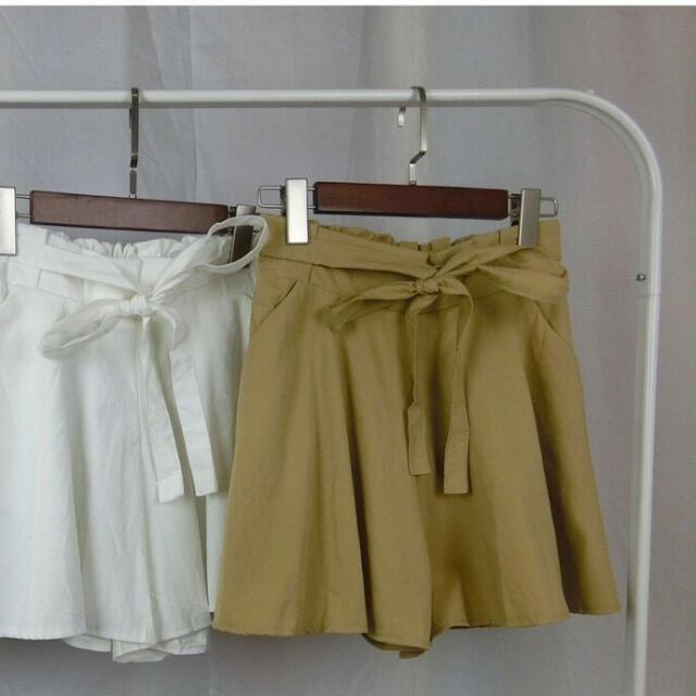 鬆緊綁帶寬鬆顯瘦褲裙