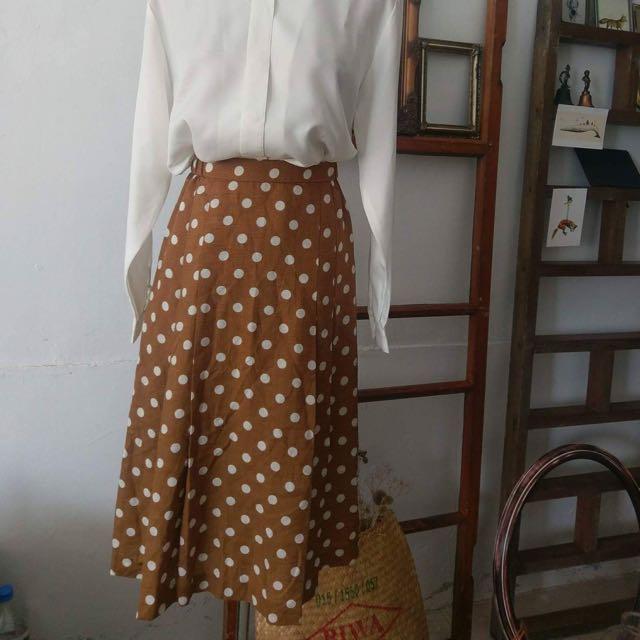 復古風日本帶回及膝裙