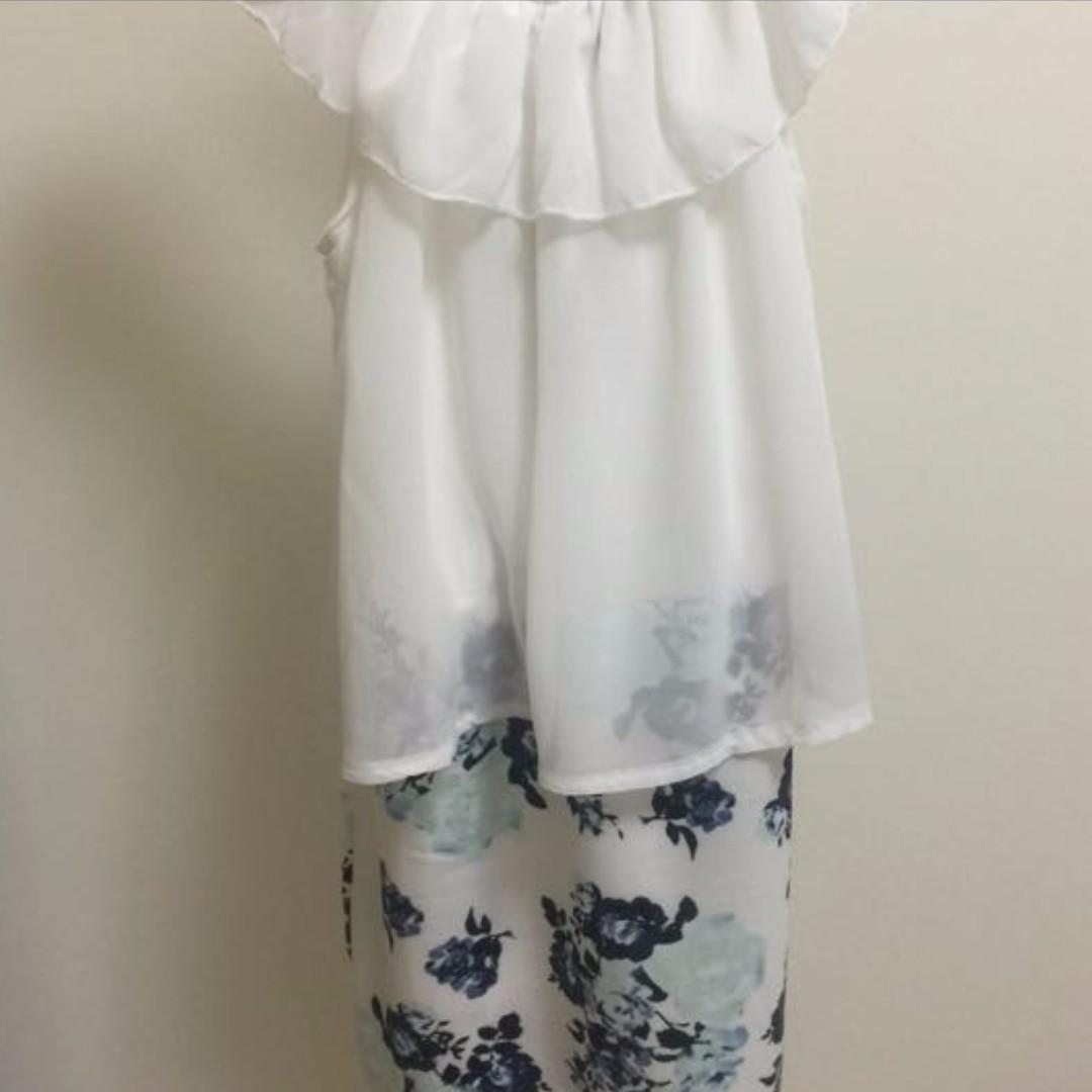 #好想找到對的人🌸日系甜美連身碎花窄裙🌸