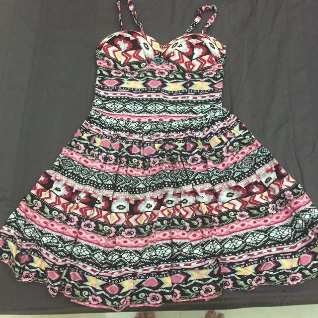 民族風罩杯洋裝