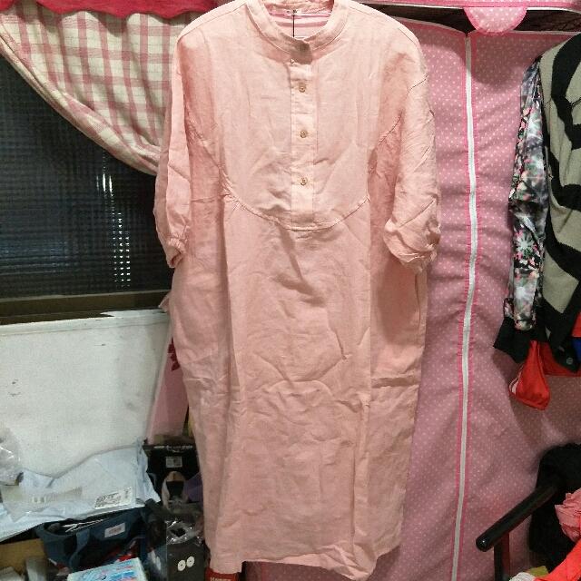 夏季棉麻寬鬆連衣裙