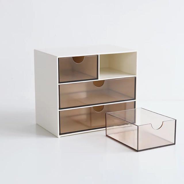 北歐風格抽屉式桌面收纳盒