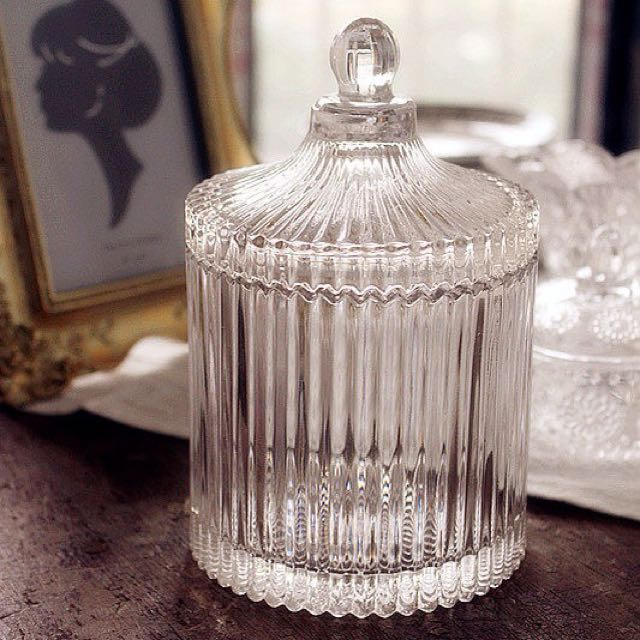 美式复古水晶玻璃儲物罐收纳罐