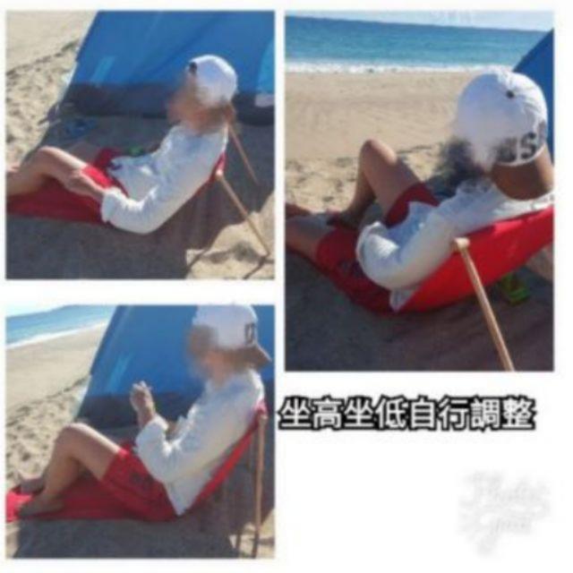 簡易 沙灘椅 便攜 露營 草地椅 海灘椅 海邊必備 泳圈 海邊  海灘 親子 草地椅 躺椅