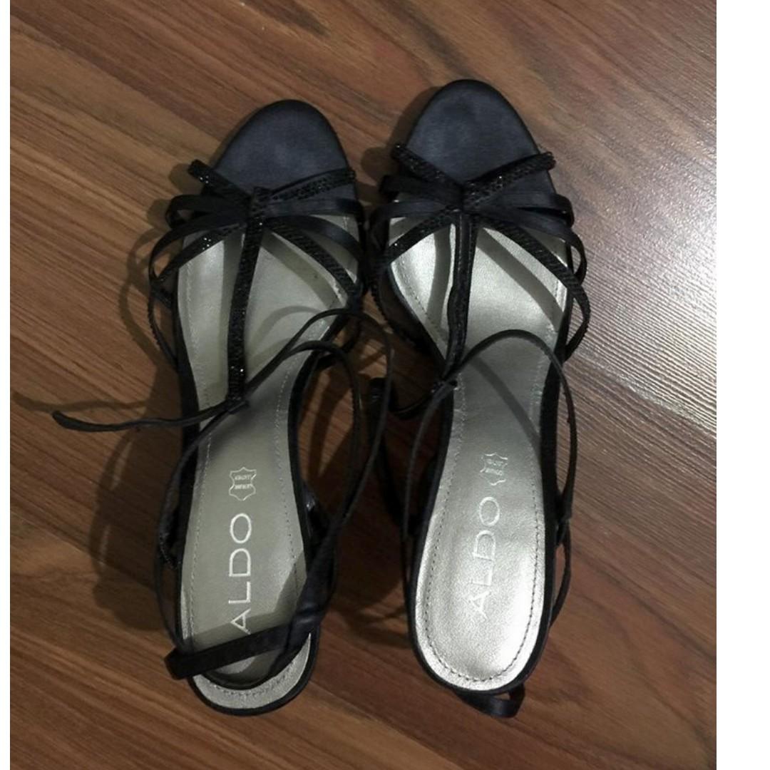 Aldo Black Sandals 8US