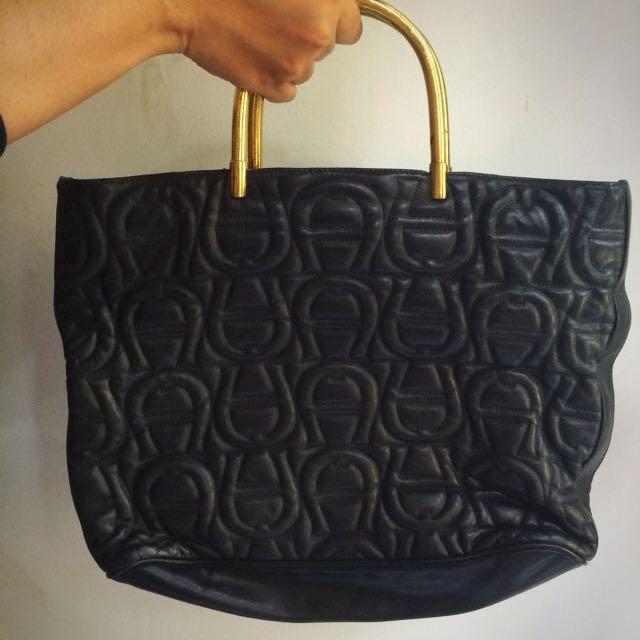 Authentic Etienne Aigner Embossed Handbag