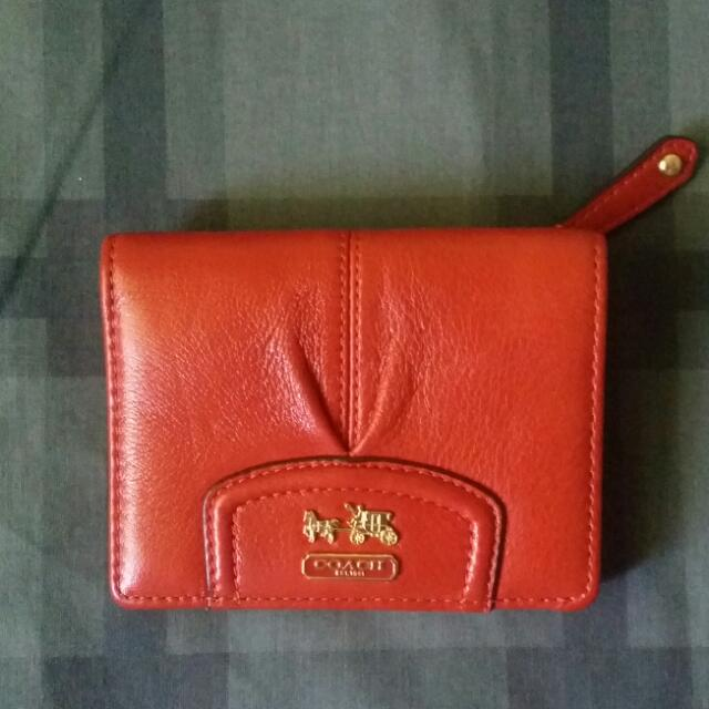 (Authentic) Coach Leather Wallet (Mini)