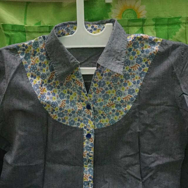 Baju Grey Flowers
