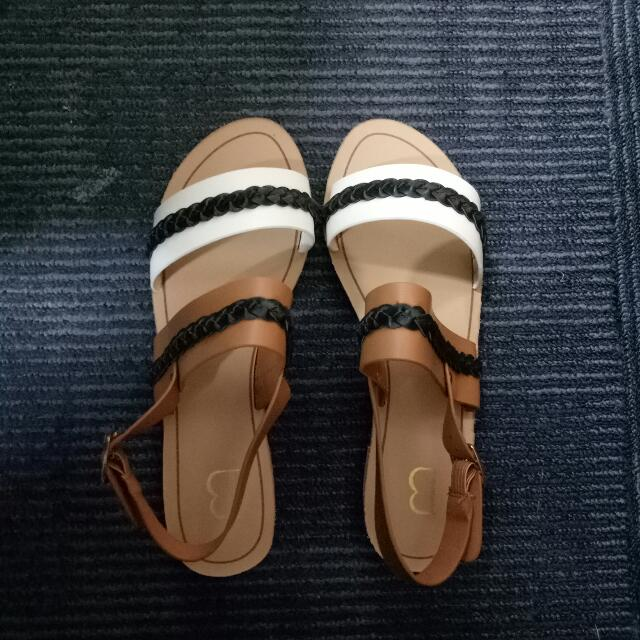 REPRICE!! Berrybenka Label Sandals Brown