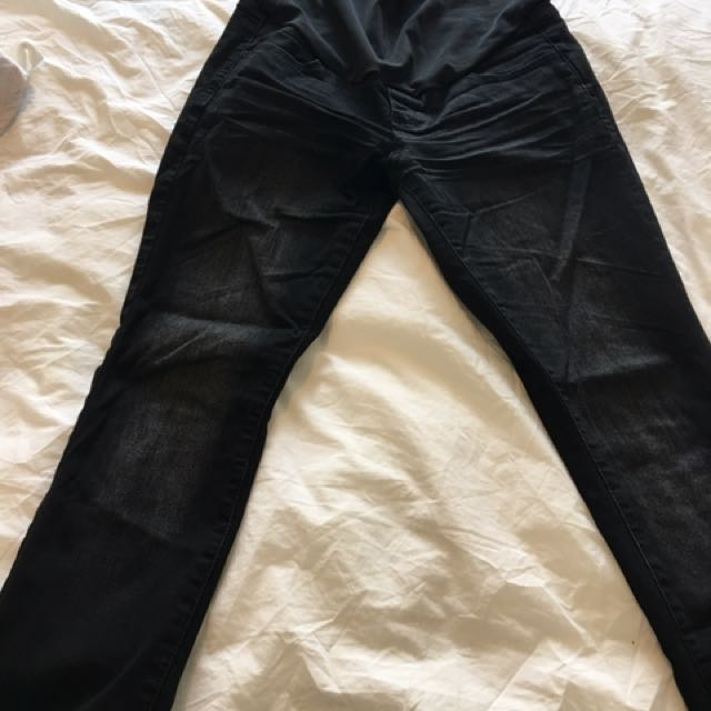 Black Maternity Jeans From Thyme