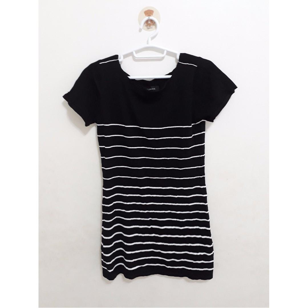 Black Striped Dress