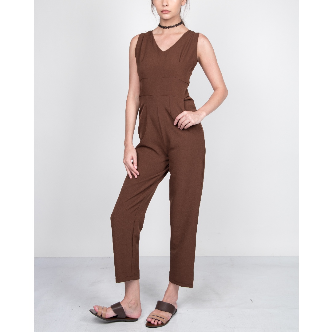 Brown Jumpsuit