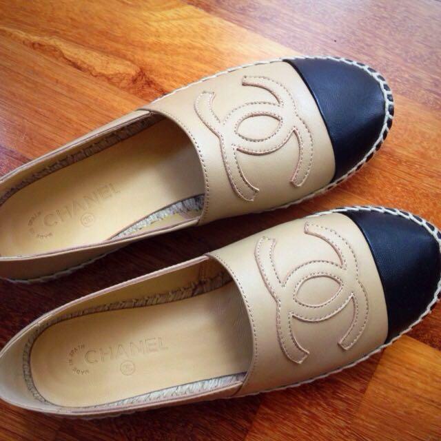 Chanel Beige Espadrilles Size 38