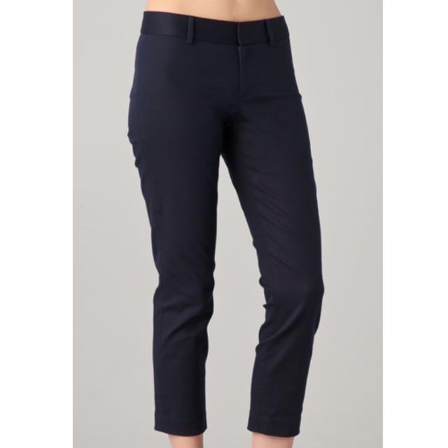 Club Monaco Reney Cropped Pants Navy