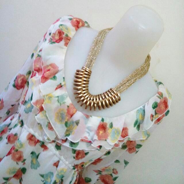 colza elegant white dress