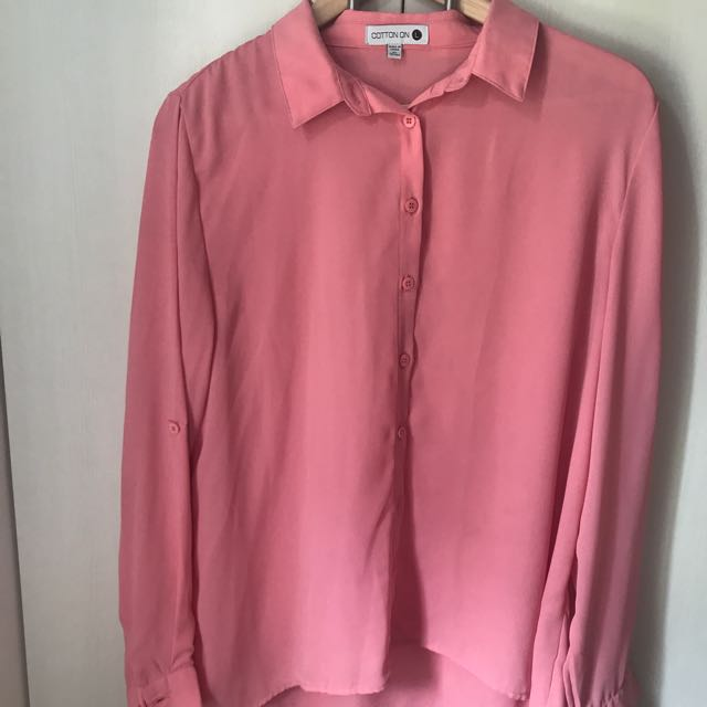Cotton On Pink Long Sleeves