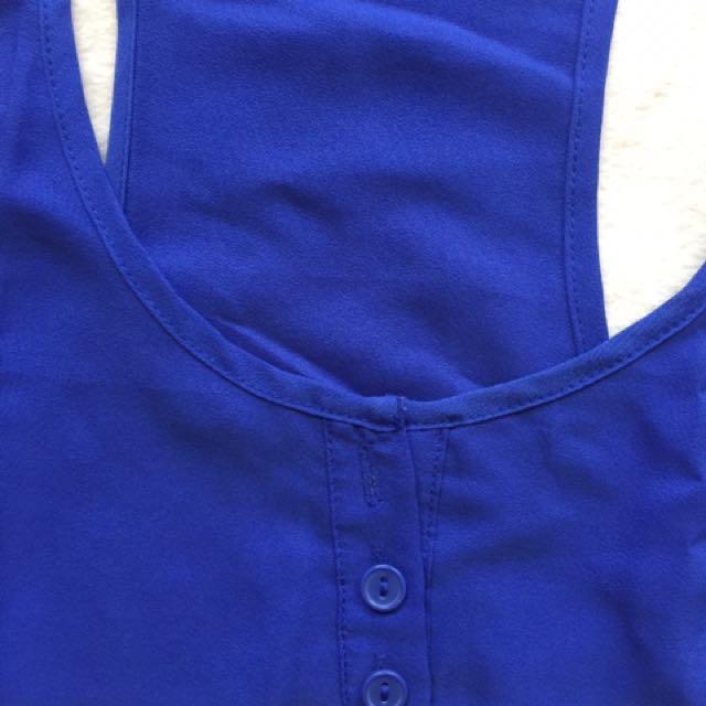 Cotton On Sheer Blue Racer Back