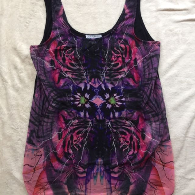 Cotton On Sheer Galaxy Top